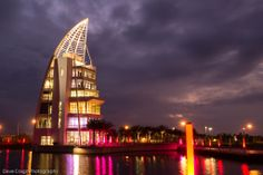 Port Canaveral's new Exploration Tower by Dave Crago. Brevard County, Around The Worlds, Tower, Florida Usa, Explore, Architecture, Gallery, Twilight, Building