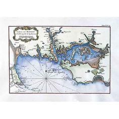 Golfe du Morbihan et Baie de  Quiberon,  Atlas de Bellin, XVIIIè siècle      -        Brittany