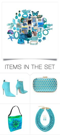 """""""Blue Gifts Gallore"""" by crystalglowdesign ❤ liked on Polyvore featuring art"""