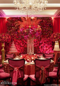WedLuxe: luxe, red and gold #wedding featured in WedLuxe Magazine (S/F 13)…