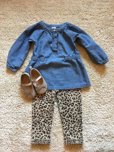 Nothing cuter than seeing a little girl in leopard leggings for fall.