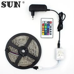 SMD3528 5M 300 Leds Indoor Strip Led Verlichting LED Ribbon 12V Power Supply 2A Power Adapter+24 Key Remote Controller RGB Lamp