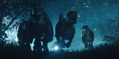 The best scene in the film for me - just so cool. They got the running animations spot on. Blue Jurassic World, Jurassic World Raptors, Jurassic Park 1993, Jurassic World Fallen Kingdom, Falling Kingdoms, Inspirational Videos, Asia, Scene, Animation
