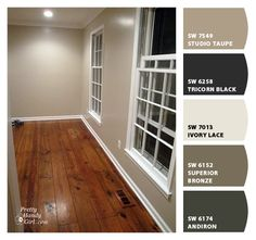 TAUPE WALL WITH CEILING PAINTED IN ULTRA BRIGHT WHITE Sherwin-Williams: