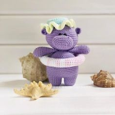 In this article I will share with you amigurumi hippo free crochet pattern. You can find the most updated amigurumi recipes on our website. Crochet Hippo, Crochet Teddy, Free Crochet, Crochet Patterns Amigurumi, Knitting Patterns Free, Free Pattern, Amigurumi Doll Pattern, Crochet Amigurumi, Stuffed Toys Patterns