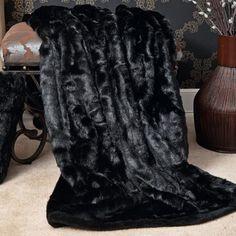 Faux Fur Lounge Throw Blanket ~SheWolf★