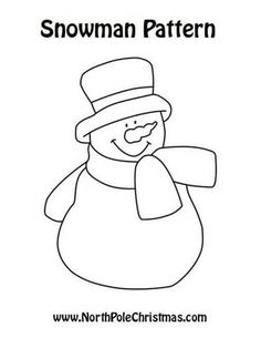 Free Printable Primitive Snowman Patterns  Free Goods  Free