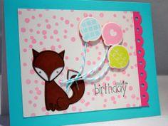 Fox Birthday Card Spring Birthday Card for Little by apaperaffaire, $3.50