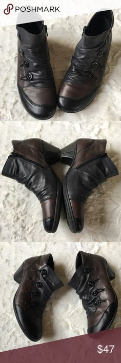 5ca9f63ad Remonte Ankle Boots 09200532 Very good condition with minor wear. Low wide  heels, side