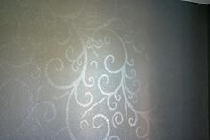 Wall Design ~ use semi-gloss as base on the wall; paint design the same paint color in high-gloss