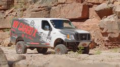 Nissan is to showcase this modified version of its NV Cargo van at the Chicago Auto Show, all set to tackle the rockiest of roads.