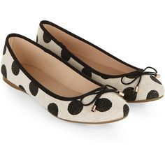 Accessorize Sparkle Spot Ballerina Flat Shoes ($33) ❤ liked on Polyvore featuring shoes, flats, polka dot ballet flats, bow ballet flats, sparkly flat shoes, ballerina flat shoes and round toe ballet flats