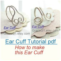Ear Cuff Tutorial pdf, How to Make No pierced Cartilage Cuff Earrings Tutorial, Digital Download file on Etsy, $3.99