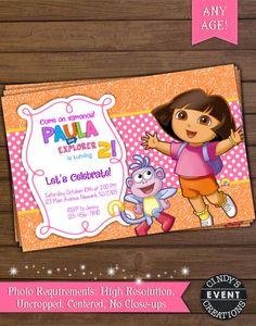 Dora The Explorer Invitation By CindysEventCreations