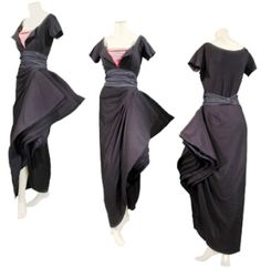 Christian Dior Fan Asymmetrucal Gown, 1948 Doyle Auction's Couture for a Cause | Splash Magazines | Los Angeles