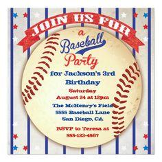 Baseball Photo Birthday Party Invitation