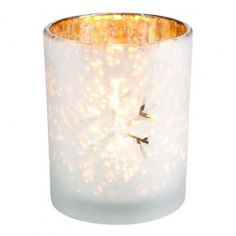 Frosted glass effect. Gorgeous candles for setting the Christmas mood