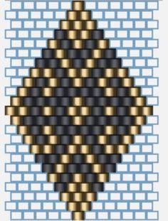 Pulsera BRICK STITCH_Design Glòria Fort - L'Antiga Casa Sala / Blog Beaded Earrings Patterns, Seed Bead Patterns, Beading Patterns, Brick Stitch Earrings, Bead Crochet Rope, Bead Jewellery, Loom Beading, Bead Weaving, Creations