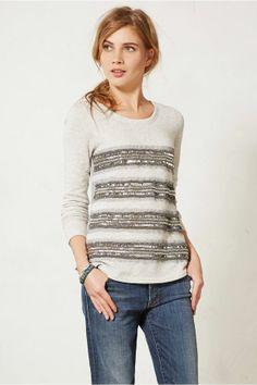 Sequin Ruled Sweatshirt, LOVE!