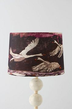 Swan Flight Lampshade #anthropologie