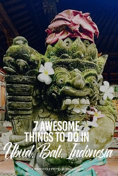 7 Awesome Things to do in Ubud, Bali, Indonesia Ubud has always been a popular place to visit in Bali. Nestled in the cooler mountain districts, it offers a welcome respite from the crazy pace of Kuta, Legian, and Seminyak. Ubud is known as the artistic capital of this tropical island, and many of the surrounding villages are dedicated to particular arts and crafts. Ubud is also known for its spirituality and mysticism, and this has attracted many people to this area.