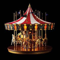 Christmas Decorations | Animated Anniversary Carousel by Mr. Christmas - American Sale