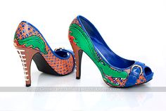 Hand painted Florida Gator high heels    These were done by Amelia Scott, www.AmeliaScott.org    You can also find her on Facebook at: http://www.facebook.com/ameliascottart?ref=ts=ts    Photographer is Christy Whitehead Photography, www.ChristyWhiteheadphotography.com
