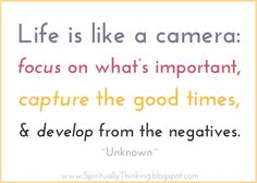 Life is like a camera - April Miller