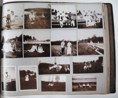 Photograph Album of Grand Duchess Anastasia. The photo's are taken in 1913 during the imperial family's stay in the skerries.