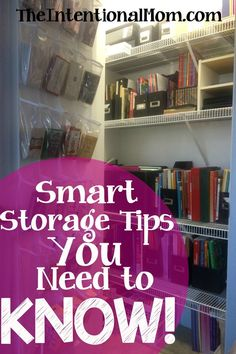 These are amazing storage tips from a busy mom of 7 who has learned to maximize her storage space. You are sure to find many things YOU can do in your home.