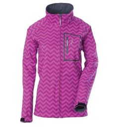 Divas SnowGear 97113 Softshell Womens Jacket  Gender Womens Primary Color Pink Size Md Distinct Name Chevron Orchid ** Click image for more details.(This is an Amazon affiliate link and I receive a commission for the sales)