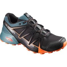 wholesale dealer 1dc3b d73fb Salomon Men s Speedcross Vario 2 Trail Running Shoes (Black Bright Orange,  Size 12) - Men s Outdoor Shoes at Academy Sports