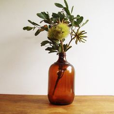 Hey, I found this really awesome Etsy listing at https://www.etsy.com/listing/250227911/large-amber-glass-cordial-bottle-gallon