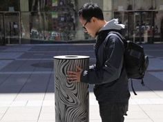 A street and interactive installation what was designed to allow people in public spaces to speak to each other at a distance.