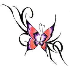 Pink Ribbon Butterfly Tattoo | images of pink butterfly tattoo here my find your online wallpaper
