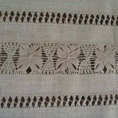 Drawn Thread, Thread Work, Hardanger Embroidery, Lace Embroidery, Point, Creations, Rugs, Sewing, Decoration