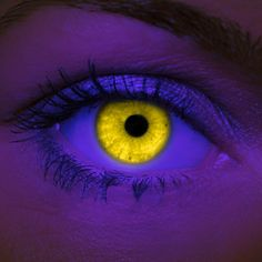 $22- Crazy Halloween Contact Lenses - Yellow UV - Coolglow.com