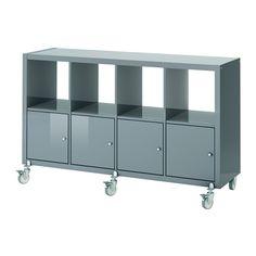 KALLAX Regal mit 4 Türen und Rollen IKEA