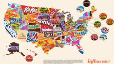 A profoundly disturbing map of candy favorites across the United States - MarketWatch