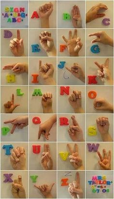 American sign language letters