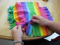 Classroom DIY: No sew DIY Fleece Pillows