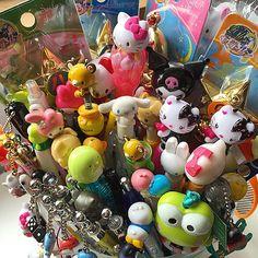 Kawaii mechanical pencils/pens collection including sanrio and san-x products. Kawaii Planner, Pen Collection, Rilakkuma, Mechanical Pencils, Ballpoint Pen, Sanrio, Pens, Stationary, Hello Kitty