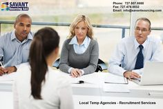 Searching for #Local #Temp #Agencies in Florida? Contact Savant Sourcing LLC, a leading #Recruitment #agency in Florida, specializing in providing right people for every role from the front desk to the executive suite. Join us now http://goo.gl/2tQFQ9 whether you're looking for employees or employment.
