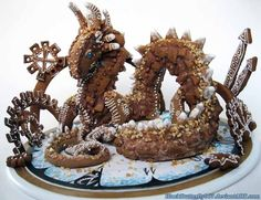 Steampunk Dragon - None | 20 Deliciously Geeky Pieces Of Gingerbread Art
