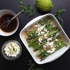 Grillede asparges med hasselnødder & feta - Vanløse blues...