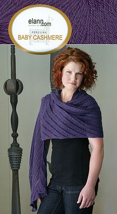 Coin Lace Stole in elann.com Peruvian Baby Cashmere