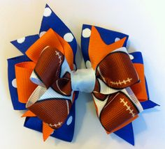 Florida Gators Football Bow by SherBearBows on Etsy, $6.25
