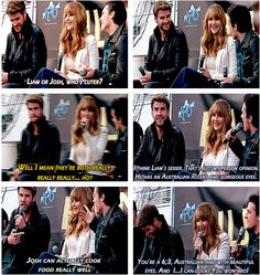 Jennifer was ask who's hotter between Liam and Josh and my joshifer heart is happy because i saw the video of this and im happy because although Jennifer gave a safe answer im glad josh save her by saying Liam is much hotter than him and as you can see the conversation it turns out to be funny one and forget the real question and save jennifer for answering it, so thanks josh!!!