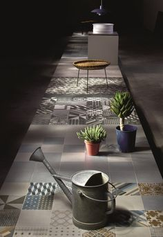 Glazed stoneware wall/floor tiles AZULEJ NERO PRATA AZULEJ Collection by MUTINA | design Patricia Urquiola