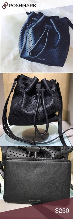 Rag and bone bucket bag Cross-body. Black. Only used a couple times. Like new! rag & bone Bags